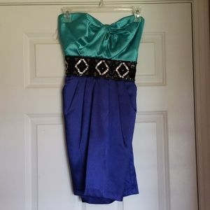 Special Occasion Short strapless dress size 7